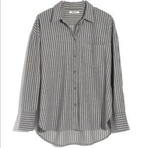 Madewell Westward Stripped Flannel Shirt